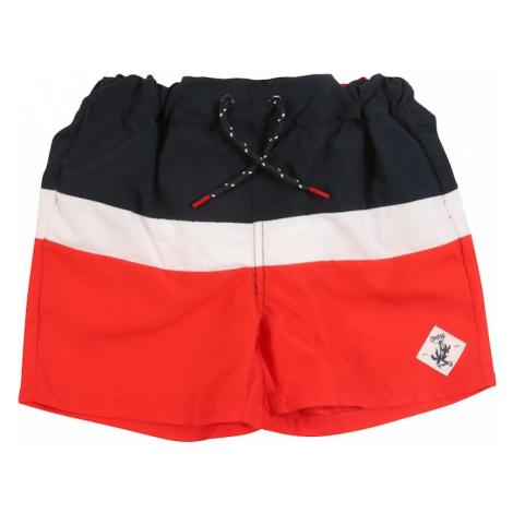NAME IT Plavecké šortky  biela / červená / modrá