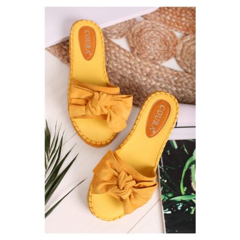 Žlté šľapky Aviere Belle Women