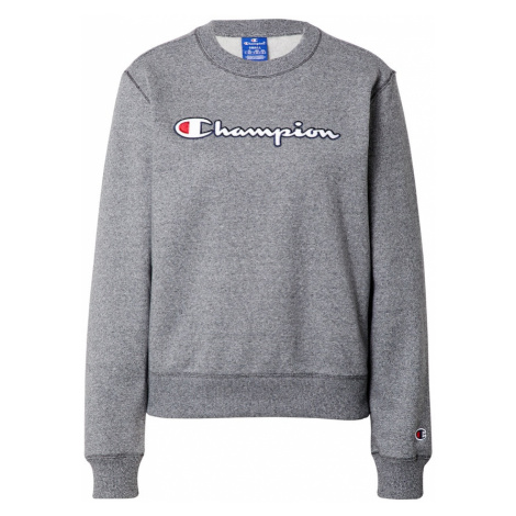 Champion Authentic Athletic Apparel Mikina  sivá melírovaná / biela / červená