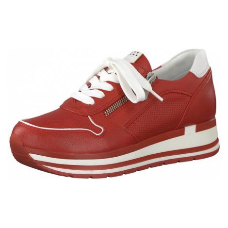 MARCO TOZZI Nízke tenisky  hrdzavo červená / biela