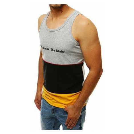 Men's tank top with a gray RX4290 print DStreet