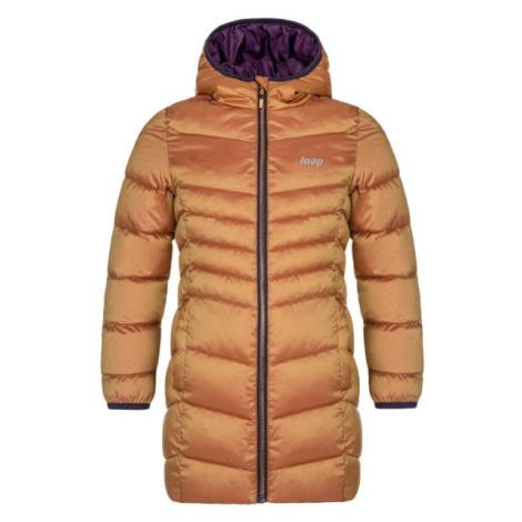 Loap IDUZIE hnedá - Dievčenský zimný kabát
