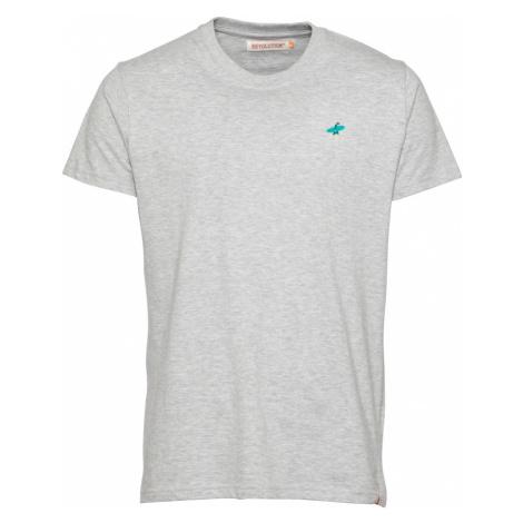 Revolution Tričko  sivá melírovaná / tyrkysová / petrolejová / béžová