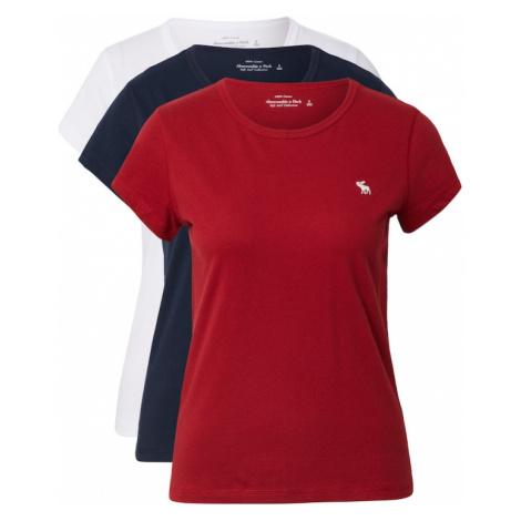 Abercrombie & Fitch Tričko  červená / biela / tmavomodrá