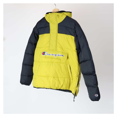 Žltá bunda Half Zip-Up Colour Block Hooded Puffer Jacket Champion