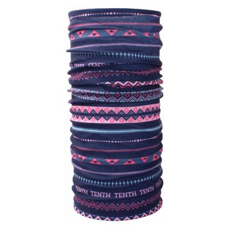 Husky Printemp pink triangle stripes, UNI multifunkčná šatka