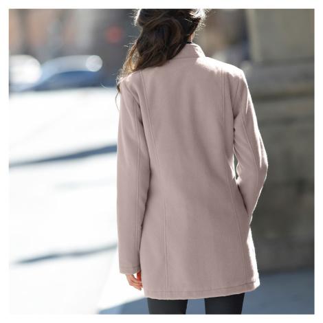 Blancheporte Prešívaný kabát s členitým strihom hnedosivá
