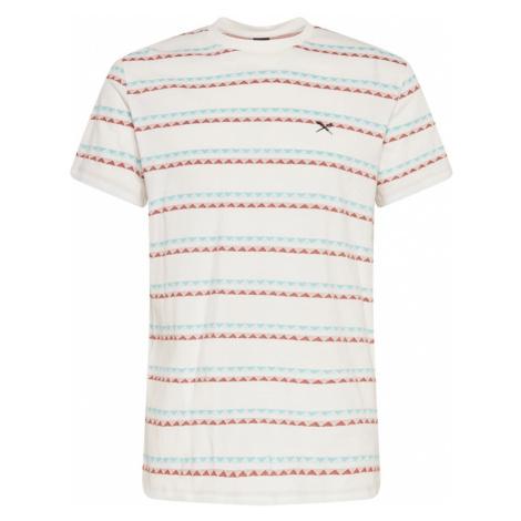 Iriedaily Tričko 'Monte Noe'  nebielená / svetlomodrá / červená / čierna