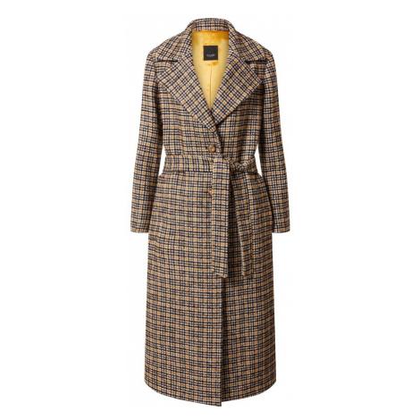 SAND COPENHAGEN Prechodný kabát 'Clareta Belt'  oranžová / farba ťavej srsti / gaštanová