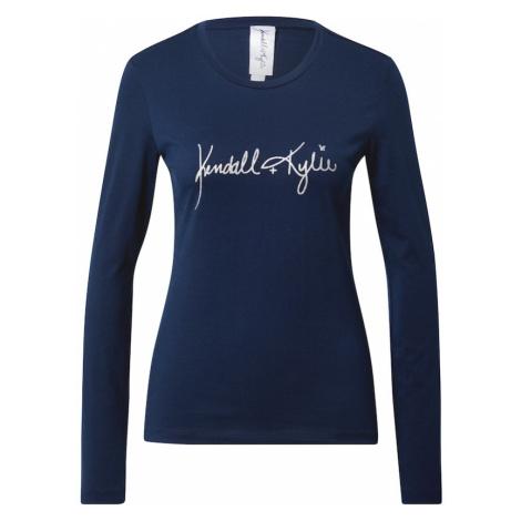 KENDALL + KYLIE Tričko  námornícka modrá / strieborná
