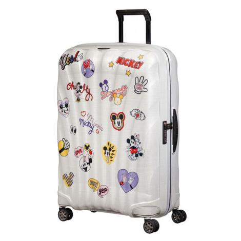Samsonite Škrupinový cestovný kufor C-lite Disney Spinner 94 l - bílá