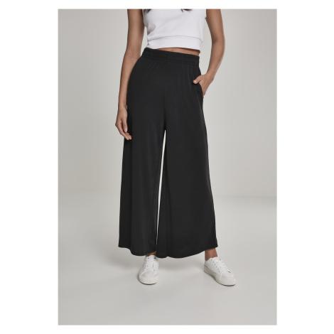 Dámske nohavice URBAN CLASSICS Ladies Modal Culotte čierne