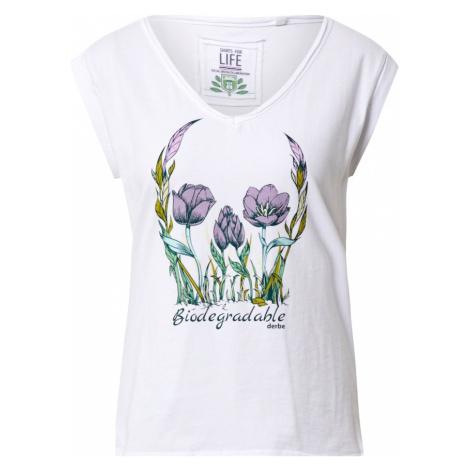 Derbe Tričko 'Flower Skull Girls C2C'  svetlozelená / biela / orgovánová