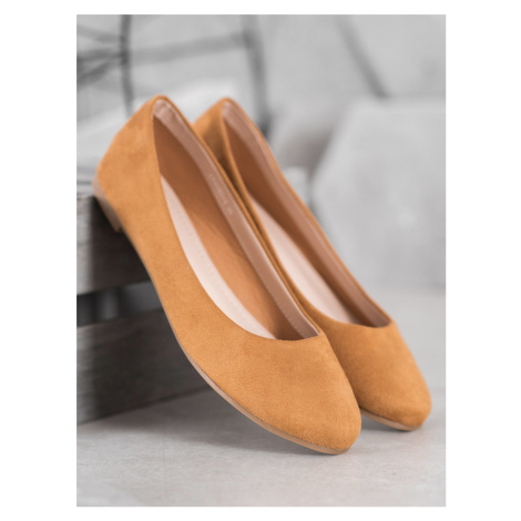 BEST SHOES SUEDE BALERINS shades of brown and beige