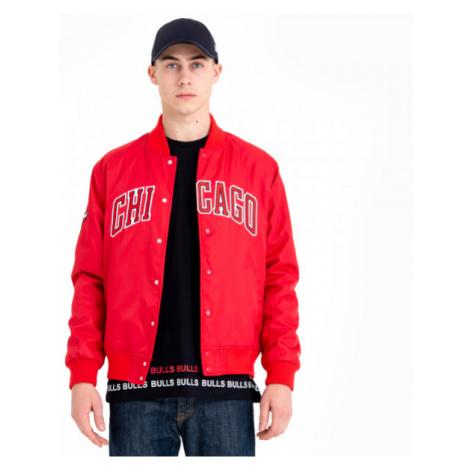 New Era CHICAGO BULLS TEAM WORDMARK VARSITY JACKET červená - Pánska bunda