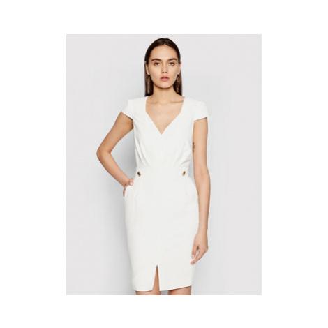 Marciano Guess Koktejlové šaty 1GG742 9529Z Biela Slim Fit