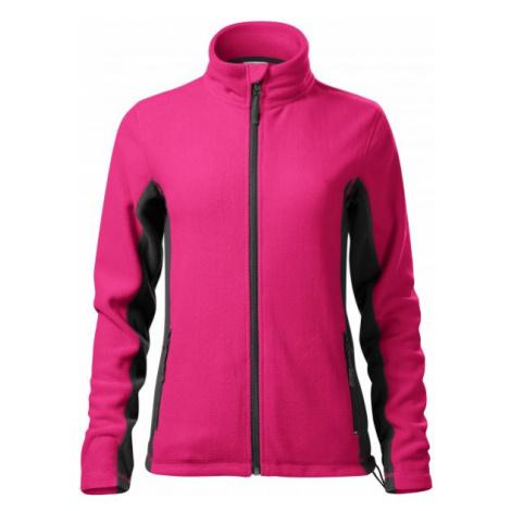 Dámska fleecová bunda kontrastná, purpurová