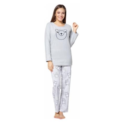 Kuba dámske pyžamo Polar bear sivé