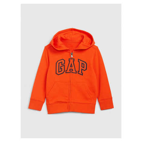 Oranžová chlapčenská mikina GAP Logo