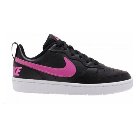 Nike COURT BOROUGH LOW 2 GS biela - Detská voľnočasová obuv