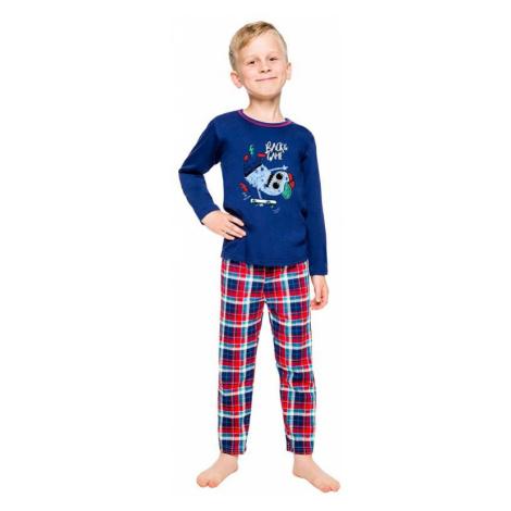 Chlapčenské pyžamo Leo tmavo modré Taro