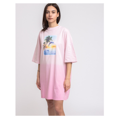 Lazy Oaf Beach Babe T-shirt Dress Pink