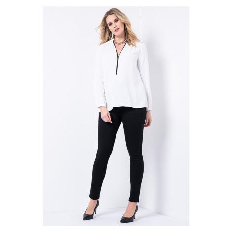 čierne tehotenské džínsy
