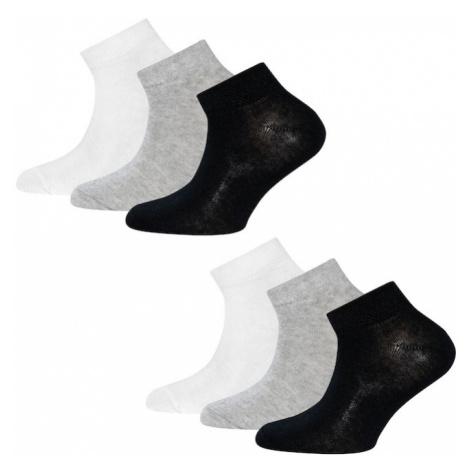 EWERS Ponožky  biela / sivá melírovaná / čierna