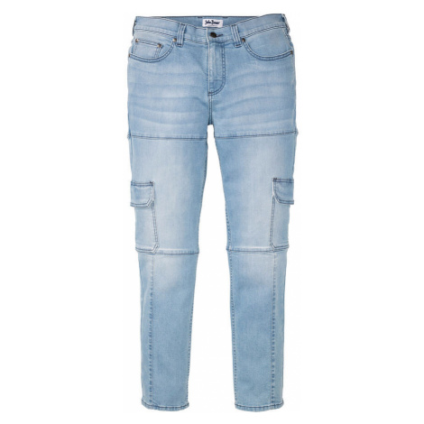 Strečové džínsy, kapsáčové, Slim Fit, rovné bonprix