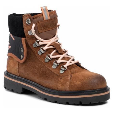 Outdoorová obuv TOMMY JEANS - Reflective Detail Lace Up Boot EN0EN00625  Winter Cognac 906 Tommy Hilfiger