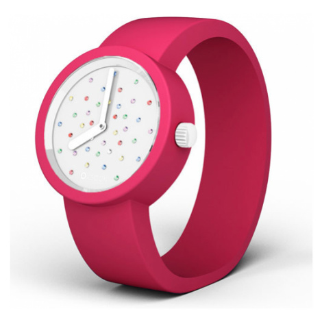 Obag o clock ciferník crystal biely mix a o clock náramok magenta veľkosť: O bag