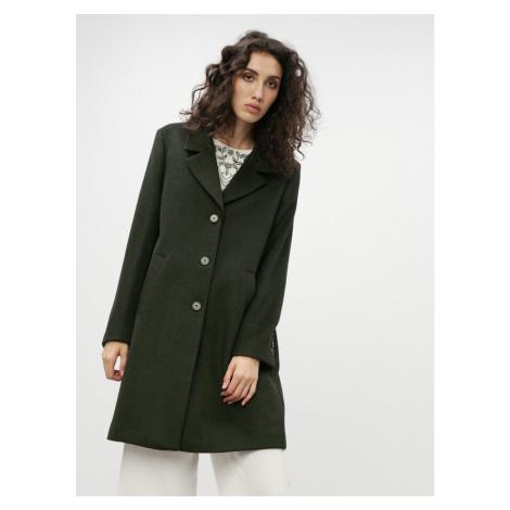 Dark Green Wool Coat Selected Femme Sasja