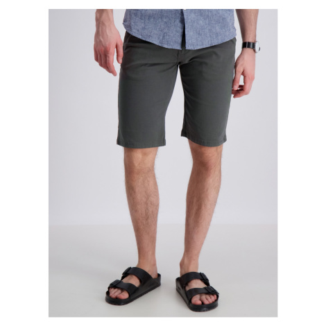 Lindbergh Dark Green Chino Shorts