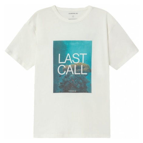 Thinking MU Tričko 'Last Call'  biela / azúrová