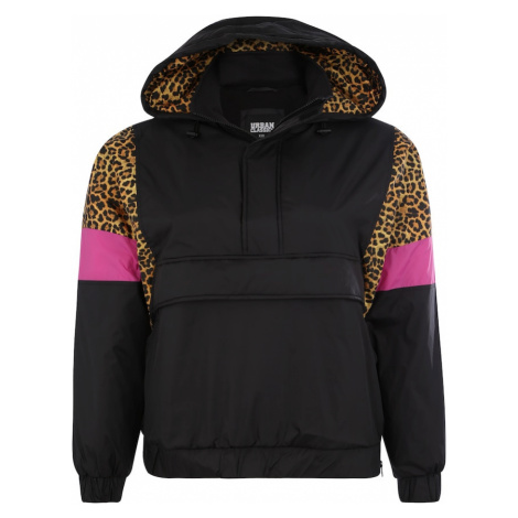 Urban Classics Curvy Prechodná bunda  hnedá / čierna / ružová
