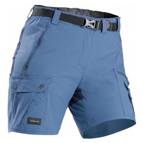 FORCLAZ Dámske trekingové šortky Trek 500 modré MODRÁ 42