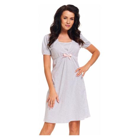 Svetlosivá tehotenská nočná košeľa PCB9393