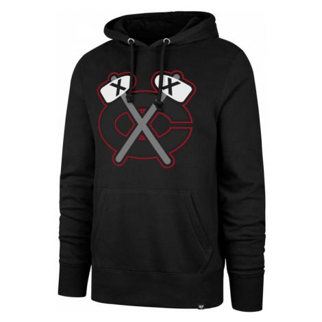 Pánska mikina s kapucňou 47 Brand Headline Hood Imprint NHL Chicago Blackhawks