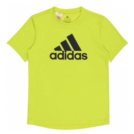 ADIDAS PERFORMANCE Funkčné tričko  citrónová žltá / čierna