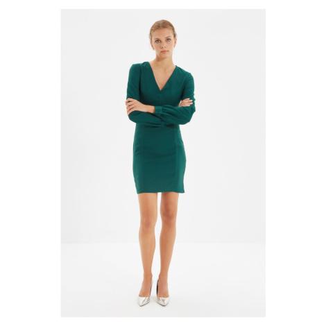 Trendyol Green Button Detailed Dress