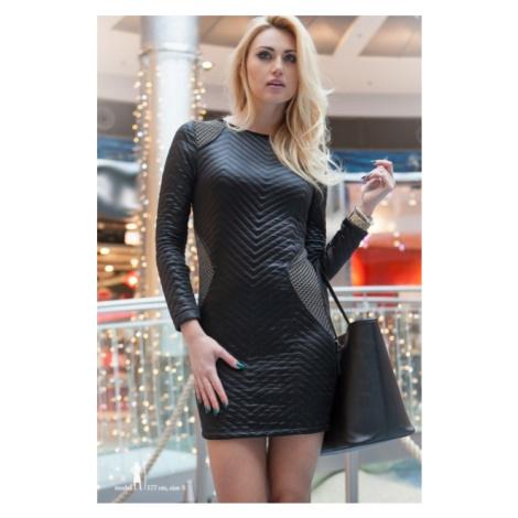 Čierne šaty s aplikáciami FASARDI