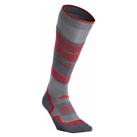 WEDZE Ponožky 300 Sivo-červené