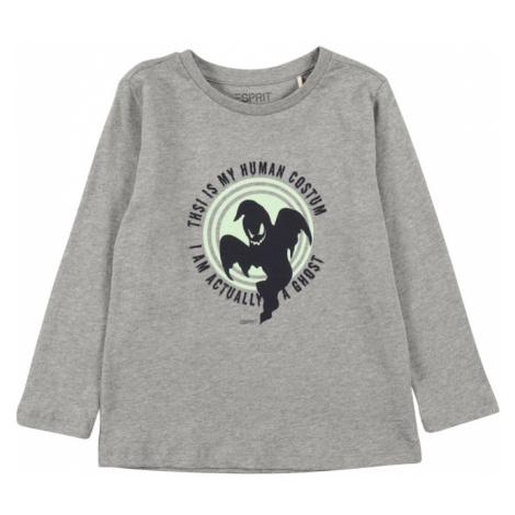 ESPRIT Tričko  sivá / zelená / čierna