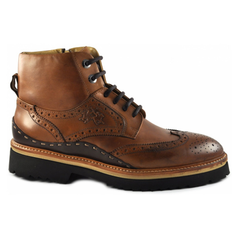 Členková Obuv La Martina Man'S Boot Canyon - Ohio Black