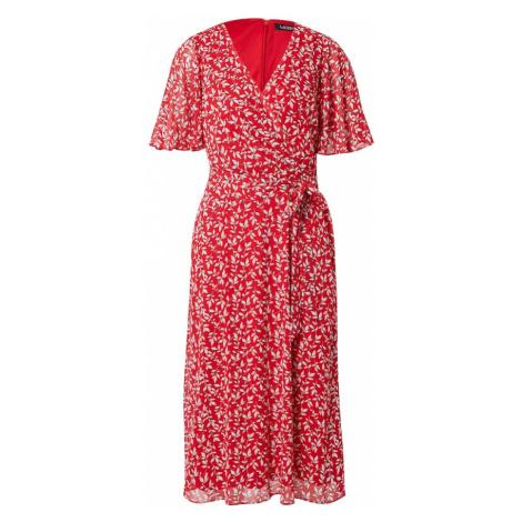 Lauren Ralph Lauren Letné šaty 'ABEL'  červená / biela / čierna