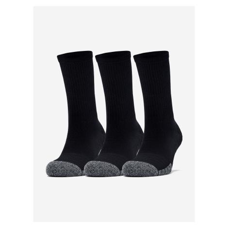 Ponožky Under Armour Heatgear Crew-Blk Čierna