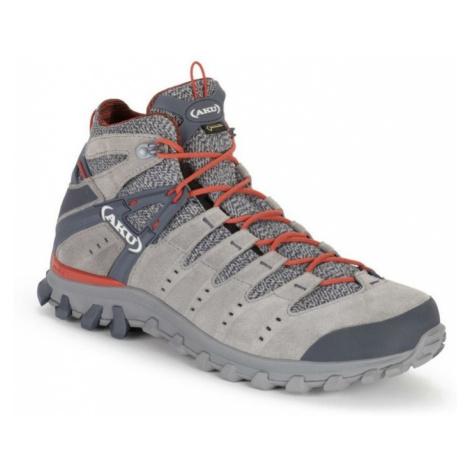 Topánky pánske AKU Alterra Lite GTX Mid šedo / červená