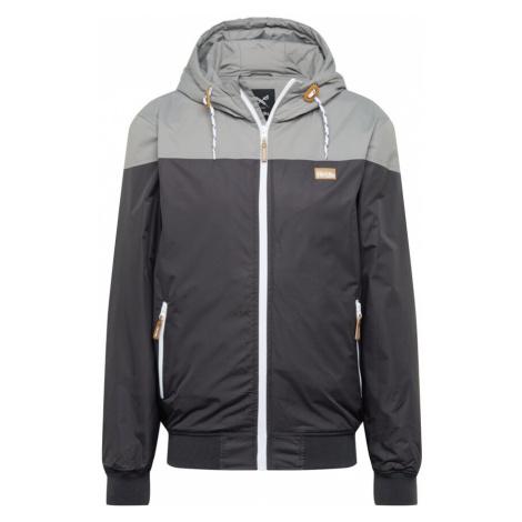 Iriedaily Prechodná bunda  tmavosivá / svetlosivá / biela