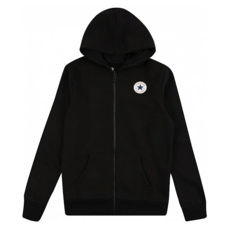 CONVERSE Tepláková bunda  čierna / biela / červená