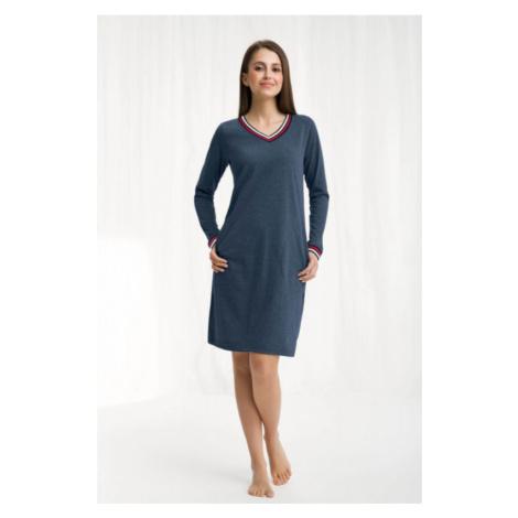 Dámska nočná košeľa Luna 262 - barva:LN2622/melanžova modrá